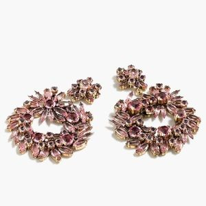 J. Crew Crystal Wreath Earrings